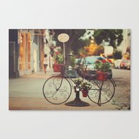 The Bike With The Flower… Canvas Print