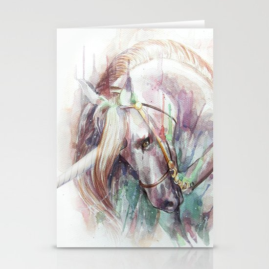 Unicorn Stationery Card