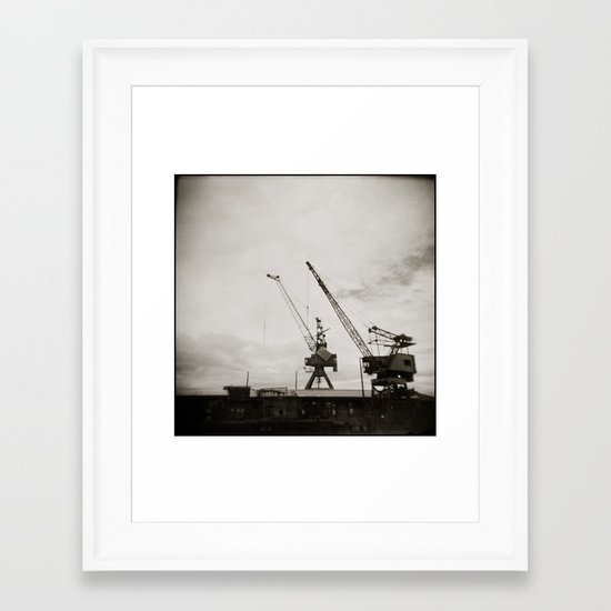 { dancing cranes } Framed Art Print