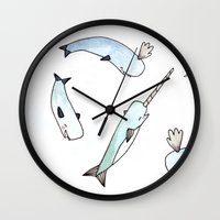 Narwhal Friends Wall Clock