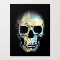 Swedish Skull Canvas Print