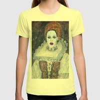 COUNTESS ERZEBET BATHORY Womens Fitted Tee Lemon SMALL