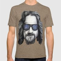 The Dude Lebowski Mens Fitted Tee Tri-Coffee SMALL