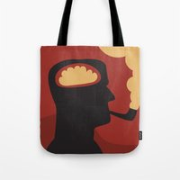 Enquire Within - Man, Brain, Thinking, Pipe, Retro, Silhouette Tote Bag