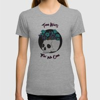 Time Waits Womens Fitted Tee Athletic Grey SMALL