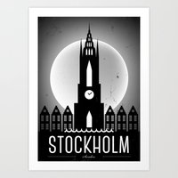 Night At Stockholm Poste… Art Print