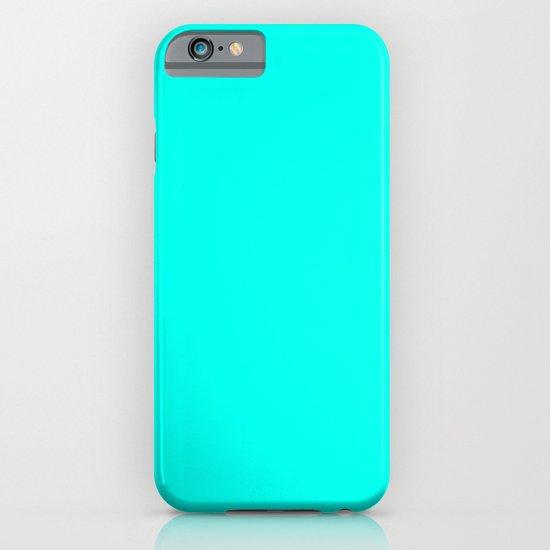 Turquoise blue iPhone & iPod Case