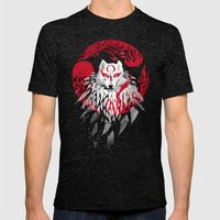 Wolf II Mens Fitted Tee Tri-Black SMALL