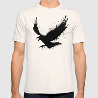 Raven Mens Fitted Tee Natural SMALL