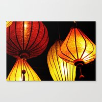 Neon Lanterns Canvas Print