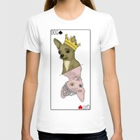 Dog & Cat card  Womens Fitted Tee White SMALL