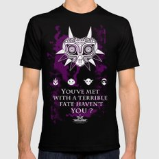 The Legend of Zelda Majora's Mask Terrible Fate Nintendo Geekery Poster/ Fine Art Print / Retro Game Black SMALL Mens Fitted Tee