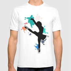 Ballerina White SMALL Mens Fitted Tee