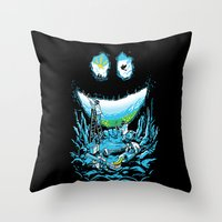 Cave-ities Throw Pillow