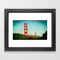 The Golden Gate Bridge at Day Framed Art Print
