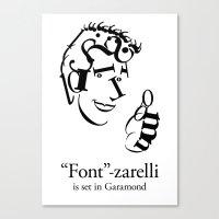 'Font'-zarelli Canvas Print
