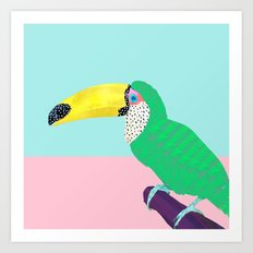 Chilling Toucan Art Print