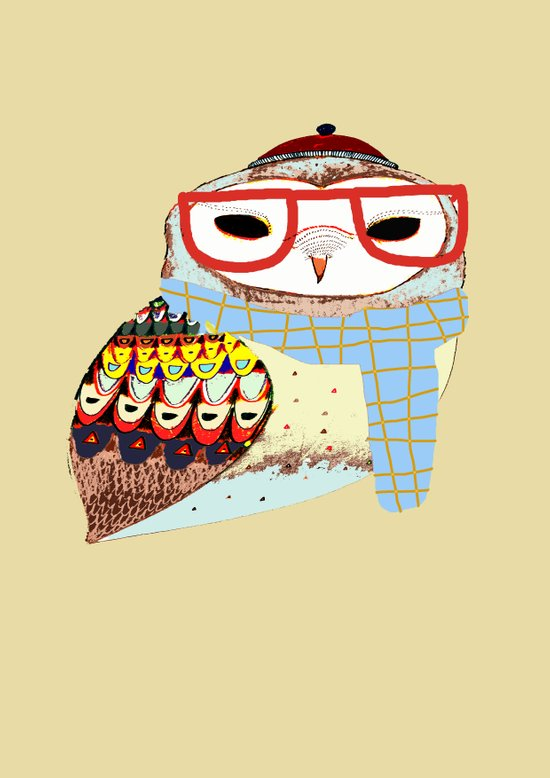 Snug Owl Art Print