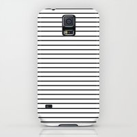 Galaxy S5 Cases featuring Minimal Stripes by Allyson Johnson
