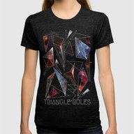 TRIANGLE RULES Womens Fitted Tee Tri-Black LARGE