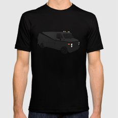 The A-Team Van SMALL Black Mens Fitted Tee