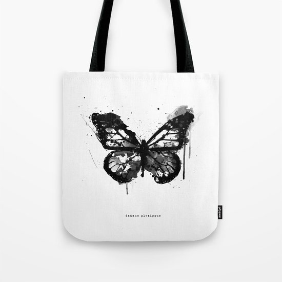 Black Monarch Tote Bag