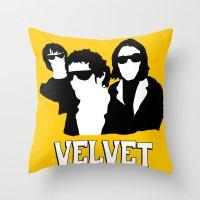 VELVET UNDERGROUND Y Throw Pillow