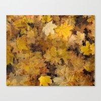 Maple Leaves 2013 Canvas Print
