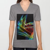 Unisex V-Neck featuring Dancing Northern Lights,… by Diane Clancy's Art