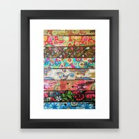 Paisley Planks Framed Art Print