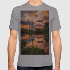 Summer sunset Mens Fitted Tee Athletic Grey SMALL