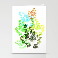 Ficus Leaves Stationery Cards