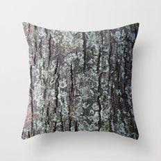 Oak Tree Bark Throw Pillow