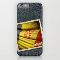 Grunge sticker of Andorra flag iPhone 6 Slim Case