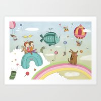 CANDIES WORLD Art Print