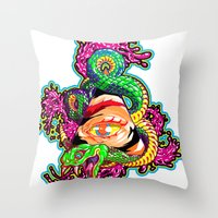 SnakeEyes Throw Pillow