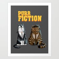 Purr Fiction Art Print