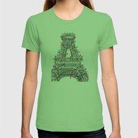 Paris Eiffel Tower Holid… Womens Fitted Tee Grass SMALL