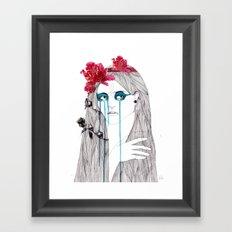 Painted Eyes Framed Art Print