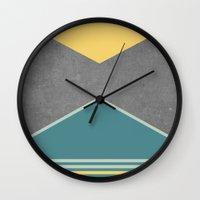 Concrete & Triangles III Wall Clock