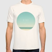 Be Free Mens Fitted Tee Natural SMALL