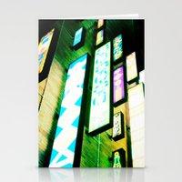 Neon Glow Stationery Cards