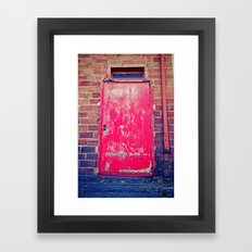 Red alley door Framed Art Print