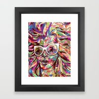 Sun Glasses In A Summer … Framed Art Print