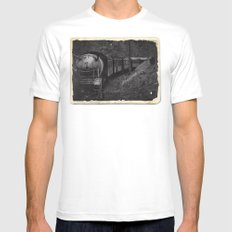 Spooky Train SMALL Mens Fitted Tee White