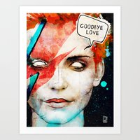 Ziggy Stardust/David Bow… Art Print
