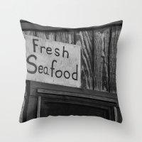 Fresh Seafood Throw Pillow