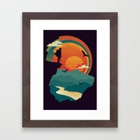 Cliffs Edge Framed Art Print
