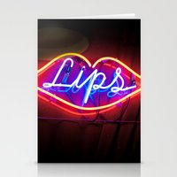 lips Stationery Cards featuring Lips by Alev Takil