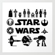 Art Print featuring Star Characters Wars by EARTh